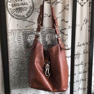 Dooney Bourke Tan Pebbled Leather Bucketful